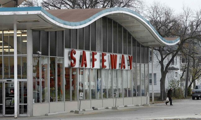 The Canada Safeway store on Main Street at Luxton Avenue is one of four Winnipeg locations being sold to Red River Co-op.
