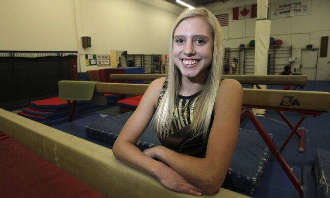 Teen gymnast Nicole Main will be the flag-bearer for the Winnipeg Gold team at the 2014 Manitoba Games. The opening ceremony is Sunday night.