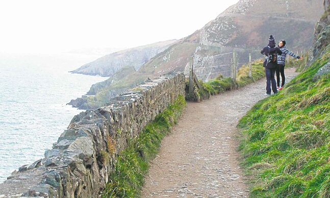 The Bray-to-Greystones cliff walk south of Dublin, Ireland.