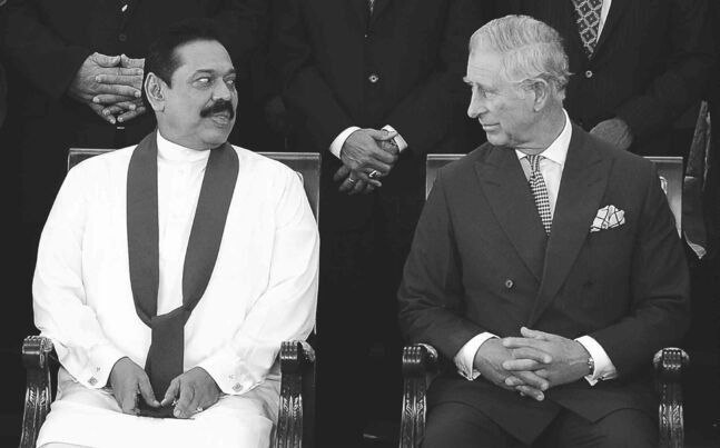 Sri Lankan President Mahinda Rajapaksa and Prince Charles at the Commonwealth Heads of Government meeting in Colombo, Sri Lanka last November.