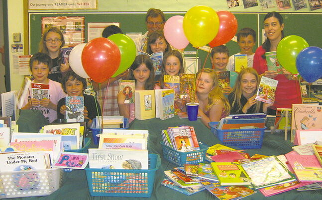 Grade 4 and 5 students at Strathmillan Elementary School collected 1,477 books for their book swap.