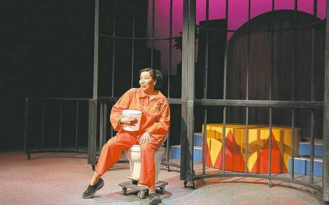 Tracey Nepinak as Char in a scene from Sarasvati Productions premiere Jail Baby.