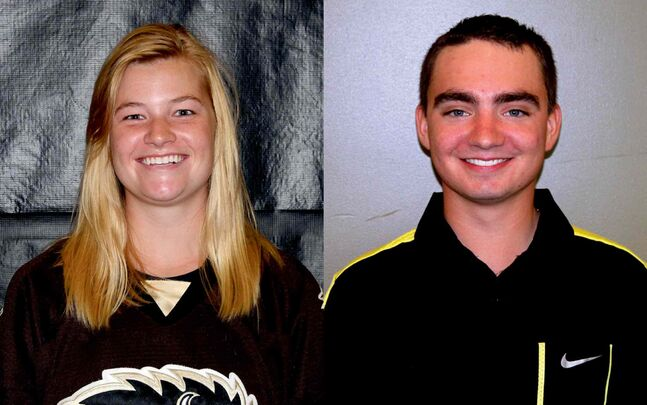 Brenley Anderson and Scott Mazur are this week's Bison athletes of the week. Anderson is a hockey forward, and Mazur is on the golf team.