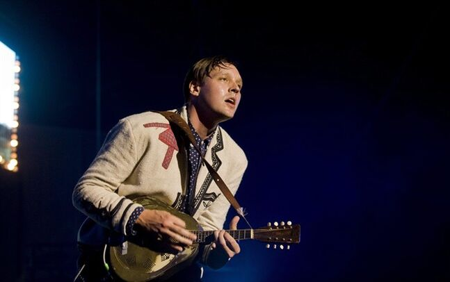 Will Butler of the band Arcade Fire performs during a free outdoor concert as part of the Pop Montreal festival in Montreal, Thursday, Sept., 22, 2011. Several Canadians, including Butler, have scored Academy Award nominations in a variety of categories.THE CANADIAN PRESS/Graham Hughes