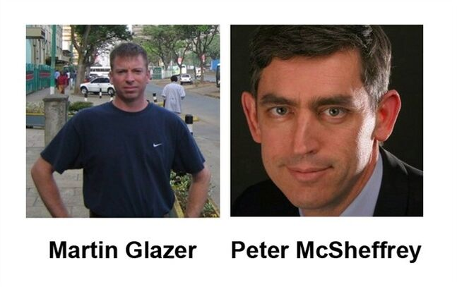 Martin Glazer of Gatineau, Quebec and Peter McSheffrey of Ottawa are shown in their LinkedIn profile photos. THE CANADIAN PRESS/LinkedIn