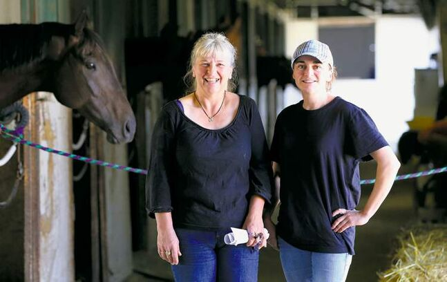 Tanya Lindsay (right) and Irene Britton are sending out plenty of winners this season at Assiniboia Downs.