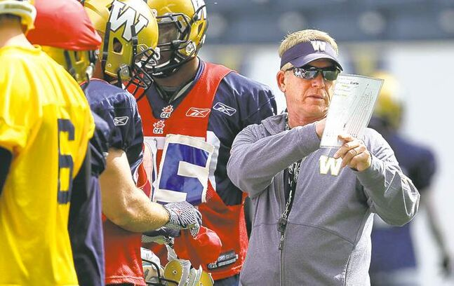 Blue Bombers head coach Tim Burke wasn't giving any hints about his defensive game plan for the Eskimos Saturday.