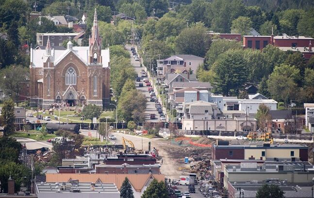 An overall view of the town of Lac-Megantic, Que. is shown on Wednesday, July 31, 2013. Suzanne Desroches sums up the Lac-Megantic real estate market when she tells how her own house sale is going.