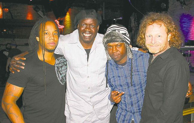 Musicians Lance Powlis (from left), Matthew Thot, Ashanti Floyd and Rod  Hussey.