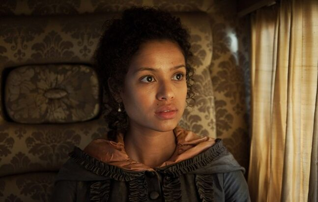 This photo released by Fox Searchlight shows Gugu Mbatha-Raw, as Dido Elizabeth Belle, in a scene from the film,