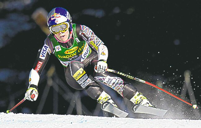 Lindsey Vonn was fast on Sunday.