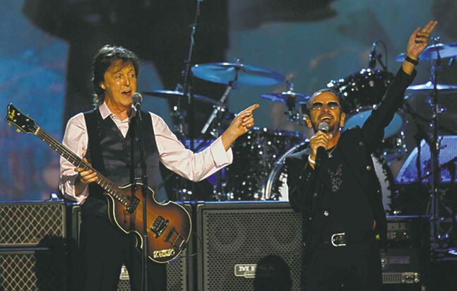 Paul McCartney, left, and Ringo Starr.