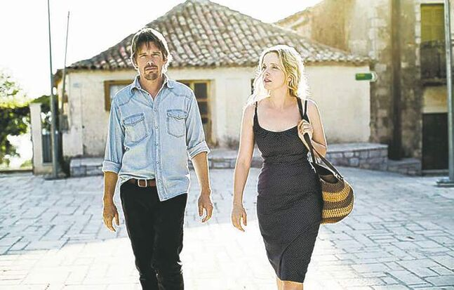 Ethan Hawke, left, and Julie Delpy walk and talk... and talk.