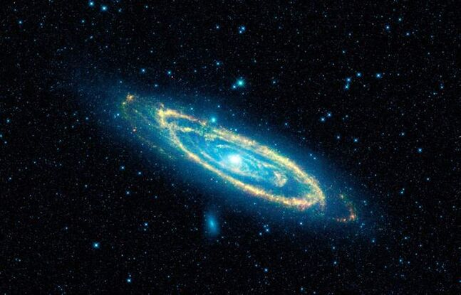 This image provided by NASA shows our nearest galactic neighbour, Andromeda. The discovery that galaxies are moving apart at increasing rates of speed has startled scientists, leading some to question long-held fundamental precepts at the foundation of our knowledge of the universe.
