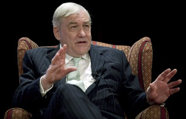 Former press baron Conrad Black speaks in Calgary, Alta., on May 10, 2013.THE CANADIAN PRESS/Jeff McIntosh
