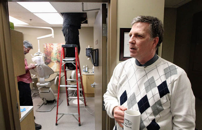 A break in the sprinkler system at Siloam Mission caused extensive damage to the health centre, clothing room and food storage area, according to Floyd Perras, executive director of Siloam Mission.