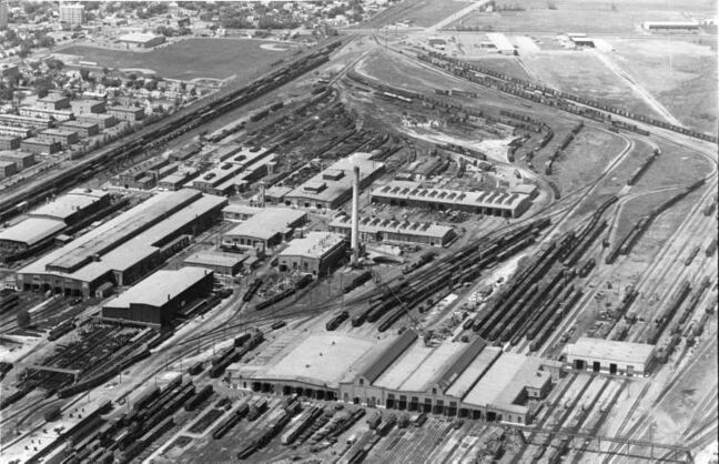 Winnipeg Free Press Archives May 2, 1977 An aerial view of CP Rail's Winnipeg yards. The company has conducted a $25-million program of railway reconstruction and replacement projects on its prairie region during 1976 and additional multi-million dollar programs are planned. Most of the capital works projects in Manitoba last year were concentrated in the area between Portage la Prairie and Brandon and between Winnipeg and the Ontario border. There are more than 206 miles of track in the railway's Winnipeg terminal yards.
