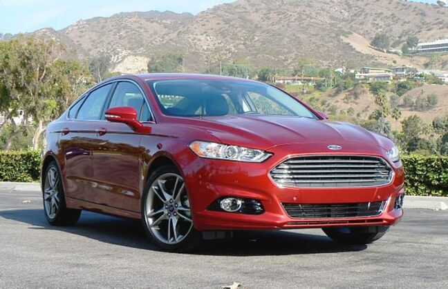 The 2013 Ford Fusion is available with an EcoBoost turbocharged 4-cylinder engine.