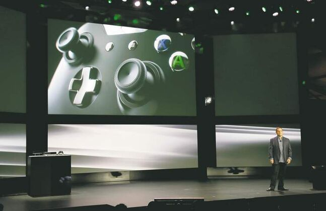 Microsoft Corp.'s chief production officer  of interactive  entertainment, Marc Whitten, talks about the controller of the  next-generation Xbox One Tuesday.