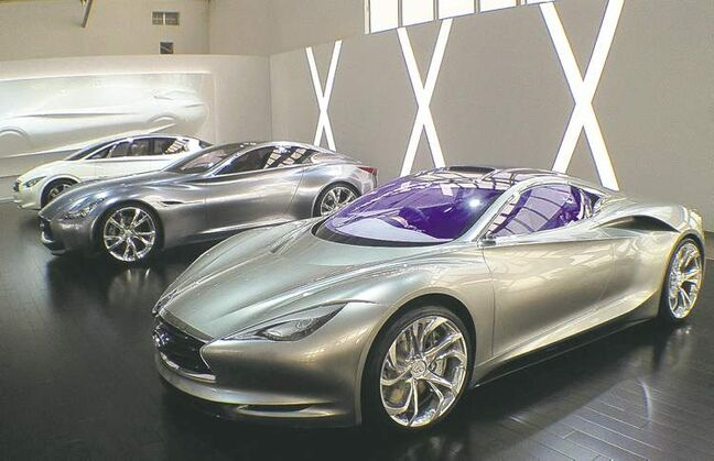 Nissan will invest $10-$13 billion to develop its premium models, (from left) the Etherea, the Essence and the Emerg-E.
