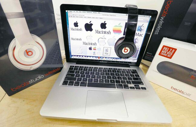 Beats headphones give street cred to an Apple laptop.