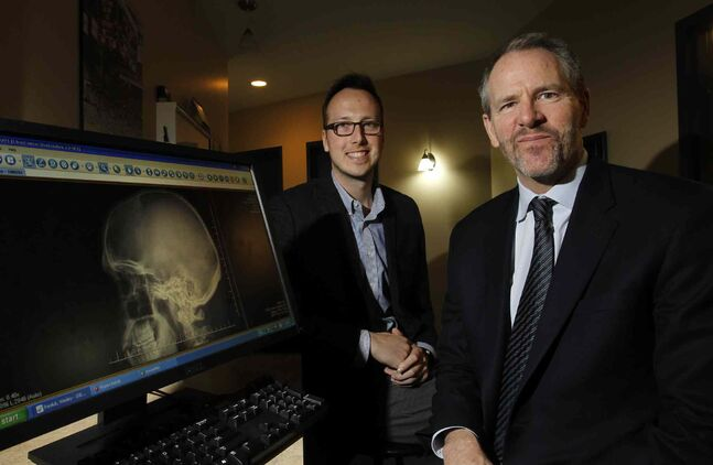 Dr. Oliver Leslie (left) and Dr. Neil Craton say the criteria used for diagnosing concussions are 'absurd.'