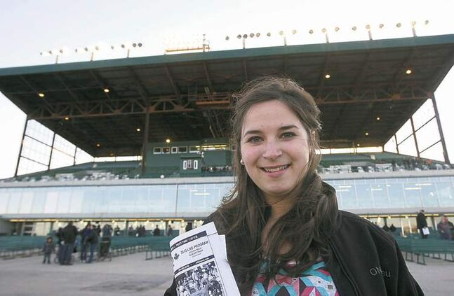 Sara Wasiuta still enjoys the smells and sounds of Assiniboia Downs -- and the occasional bet.