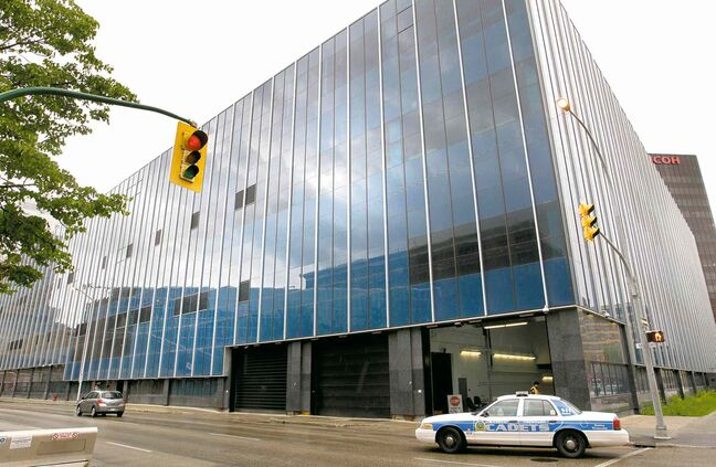 The new police headquarters on Graham Avenue will cost taxpayers at least $210 million.