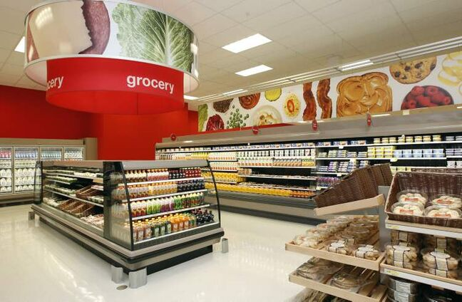The grocery section of Target's new Kildonan Place Shopping Centre store. Sobeys has a long-term supply deal.