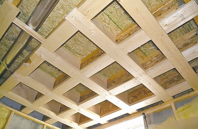 Bracing was added to the ceiling to prevent basement wall movement.