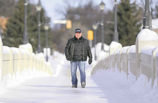 Rick Ranson on the Assiniboine Park footbridge.