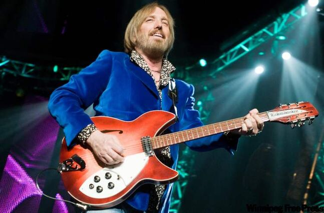 Tom Petty performs at the MTS Centre with his Band Tom Petty and the Heartbreakers in this archived photo.