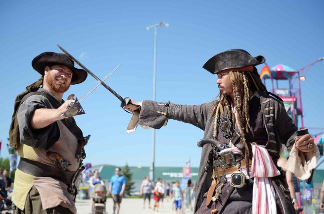 Mr. Bilger and Captain Jack Sparrow at the Red River Ex.