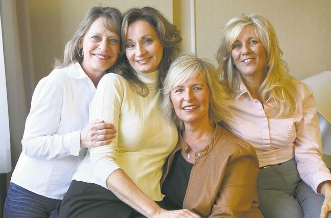 FROM LEFT: Rose Dyck, Wendy Johnson, Sandra Nilsson and Liz Venderbos.