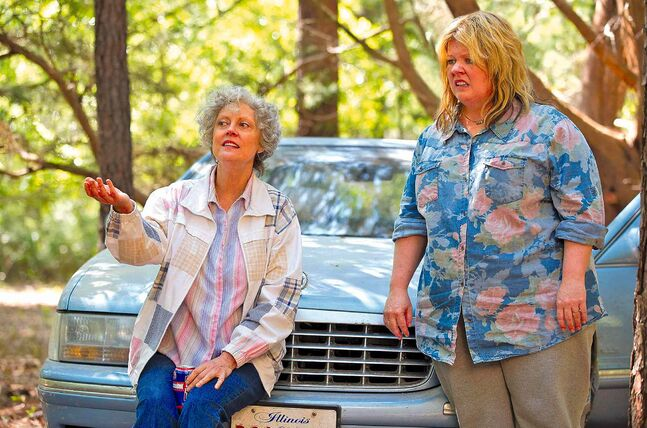 Melissa McCarthy (right), is Tammy, a slovenly, morbidly obese vulgarian who is fired from her fast-food restaurant job and catches her husband cheating on her. More hijinks ensue when she decides to go on a road trip to Niagara Falls, joined by Granny (Susan Sarandon). McCarthy continues her quest to milk anything and everything for a laugh, while ignoring her size.