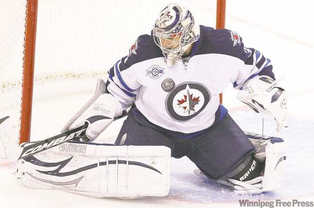 Fred Chartrand / the canadian press archivesNo. 1 goalie Ondrej Pavelec hasn�t disappointed with his often superb play thus far. Tightening up his protection would help in the long run.