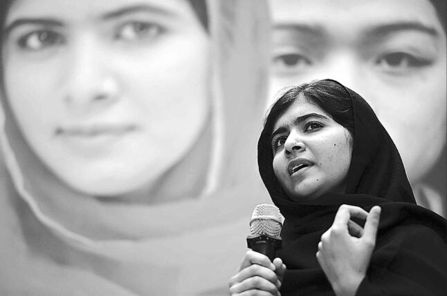 Malala Yousafzai speaks at the World Bank headquarters in Washington, D.C., on Oct. 11.