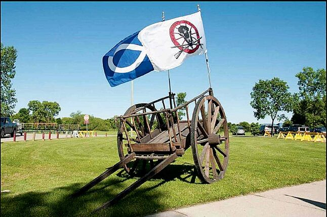 The Red River cart remains a lasting symbol of Metis innovation.