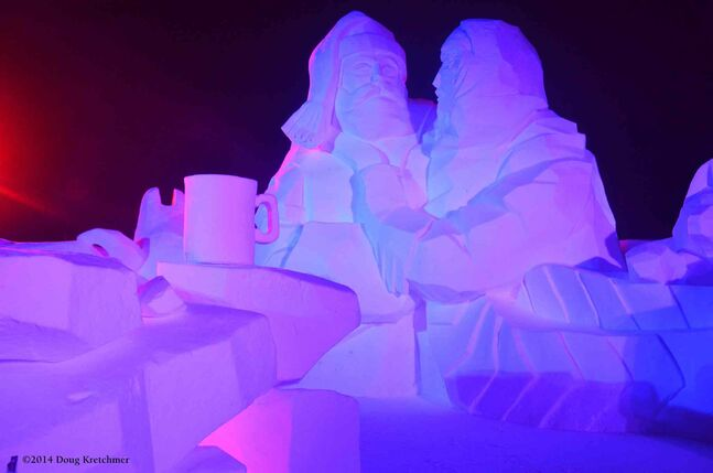Snow sculptures are a big part of Festival du Voyageur.