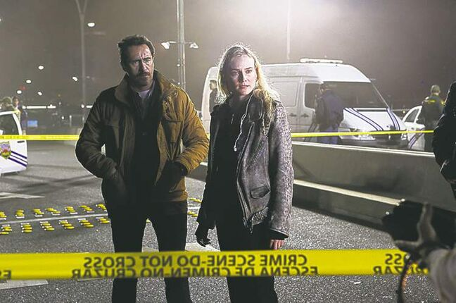 Above, Demian Bichir (left) and Diane Kruger in The Bridge.
