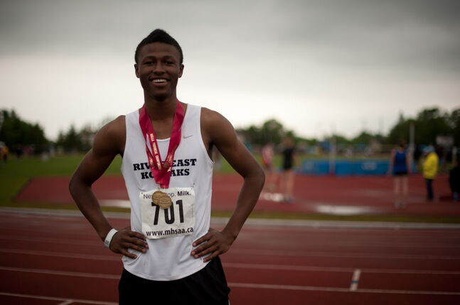 Alhaji Mansaray earned two silver medals at the Canada Games and the Canadian Juniors in addition to a gold medal at the Canada West Challenge in high jump.