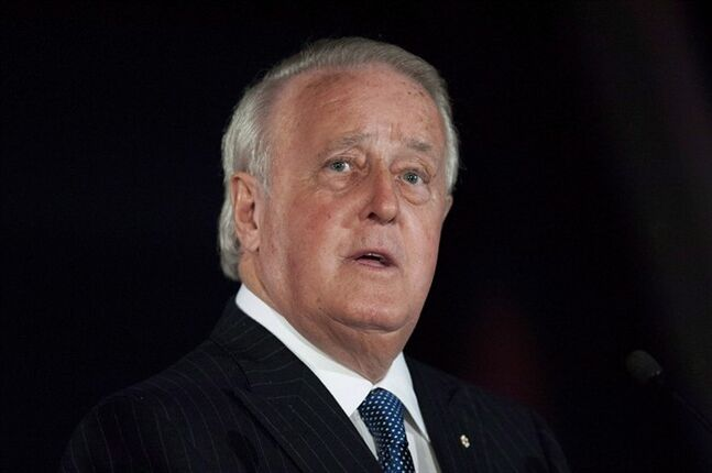 Former prime minister Brian Mulroney is shown in Ottawa on Tuesday, April 8, 2014. Mulroney is reportedly poised to assume greater responsibility at telecom and media giant Quebecor Inc. The Globe and Mail says the company has disclosed in a corporate filing that Mulroney, 75, will be named board chairman at its annual meeting next month. THE CANADIAN PRESS/Justin Tang