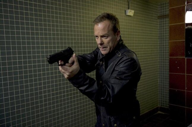 This image released by Fox shows Kiefer Sutherland in a scene from