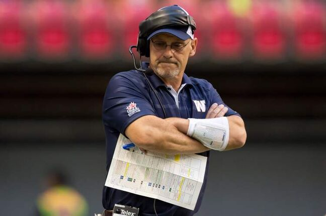 Winnipeg Blue Bombers' offensive coordinator and quarterbacks coach Gary Crowton was let go Sunday.