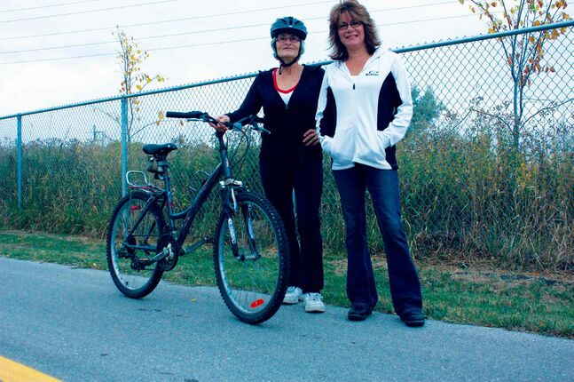Transcona residents Betty Thiessen are concerned about how a proposed concrete batch plant might affect usage of the Transcona Trails.