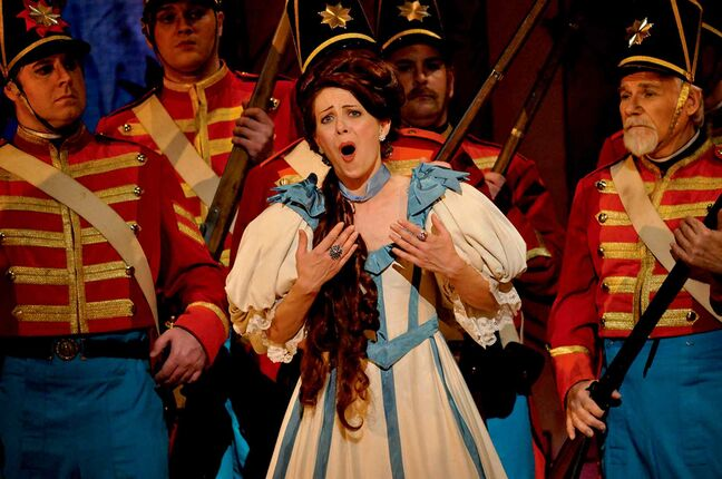 Winnipegger Nikki Einfeld - pictured here in Manitoba Opera's 2012 production of The Daughter of the Regiment - will sing the role of Norina in Don Pasquale.