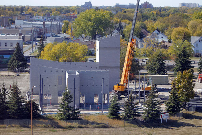 The fire hall on Route 90 and Portage under construction in 2012.