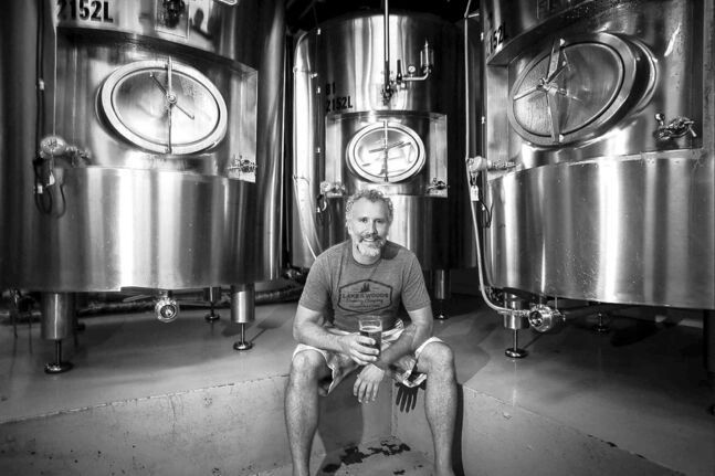 Taras Manzie has restarted the Lake of the Woods Brewing Company.