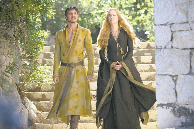 Pedro Pascal as Dornish prince Oberyn Martell and Lena Headey as Cersei Lannister.