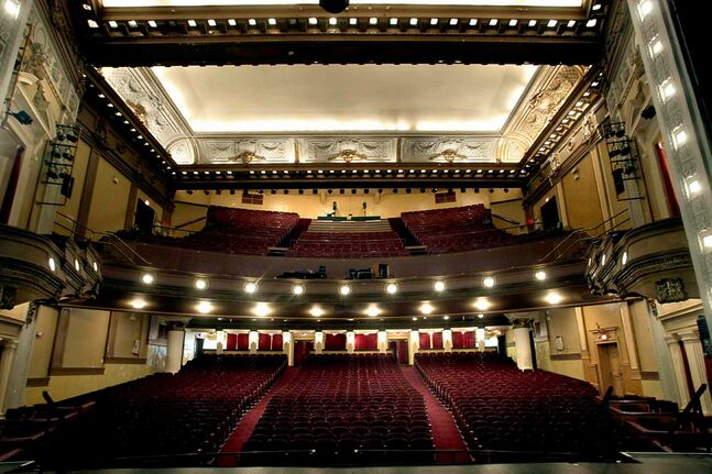 The view from the stage. The Pantages Theatre turns 100 years old.